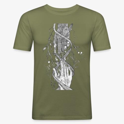 Reconnect - Narrow Transparent Edition by Rivinoya - Miesten tyköistuva t-paita