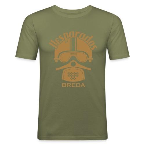 Vesparados breda - Mannen slim fit T-shirt