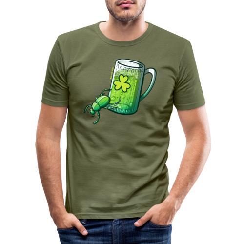 Saint Patrick's Day Beetle - Men's Slim Fit T-Shirt