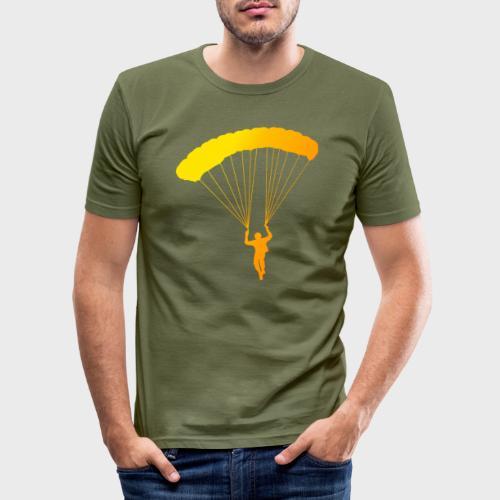 Colorfull Skydiver - Männer Slim Fit T-Shirt
