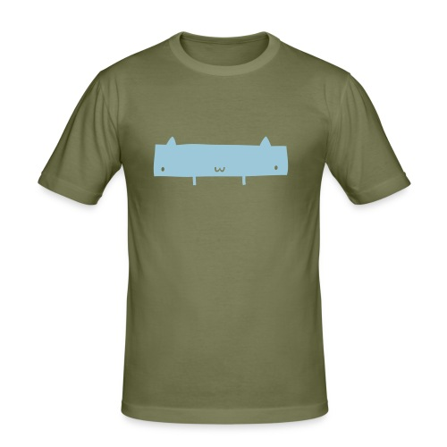 Wide Cat - Men's Slim Fit T-Shirt