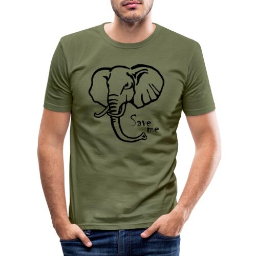 Afrika-Elefant I Save me - Männer Slim Fit T-Shirt