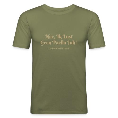 Ik lust geen paella - Mannen slim fit T-shirt