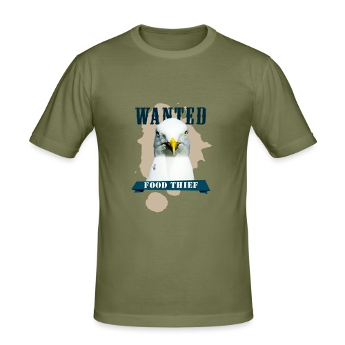 WANTED - FOOD THIEF - Männer Slim Fit T-Shirt