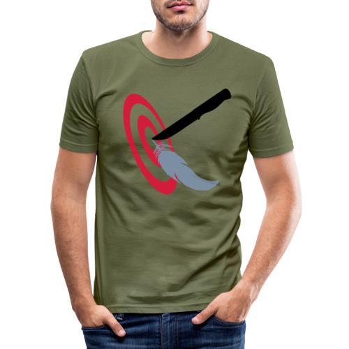Eurothrowers Logo - Men's Slim Fit T-Shirt