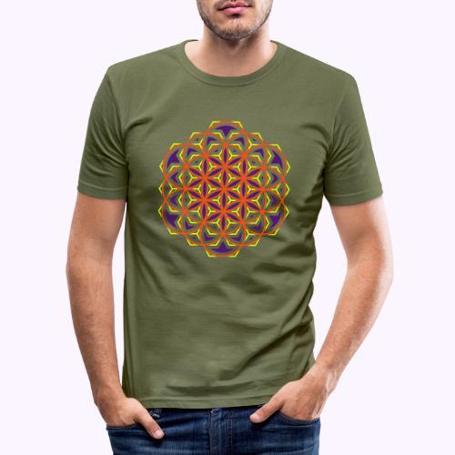 Flower of Life 2 - Camiseta ajustada hombre