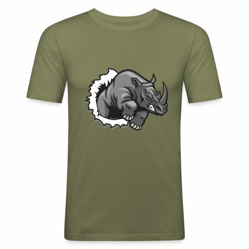 Méchant rhinocéros - T-shirt près du corps Homme