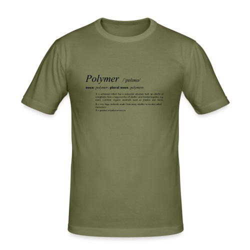 Polymer definition. - Men's Slim Fit T-Shirt