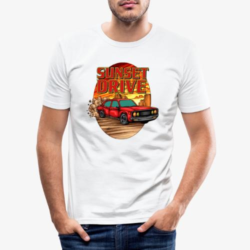 Sunset Drive - Männer Slim Fit T-Shirt