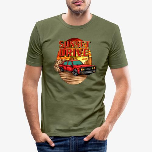 Sunset Drive - Männer Slim Fit T-Shirt