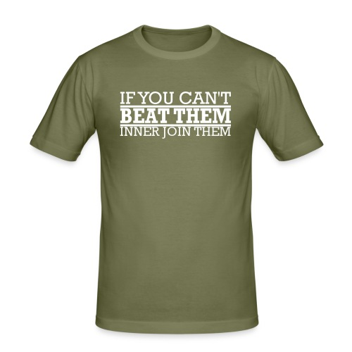 If You can't beat them, inner join them - Slim Fit T-shirt herr