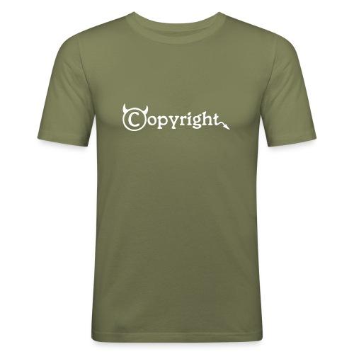 Copyright-Shirt-Black - Männer Slim Fit T-Shirt