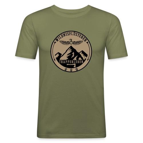 Wildnisfluesterer Trapperleben Motiv - Männer Slim Fit T-Shirt