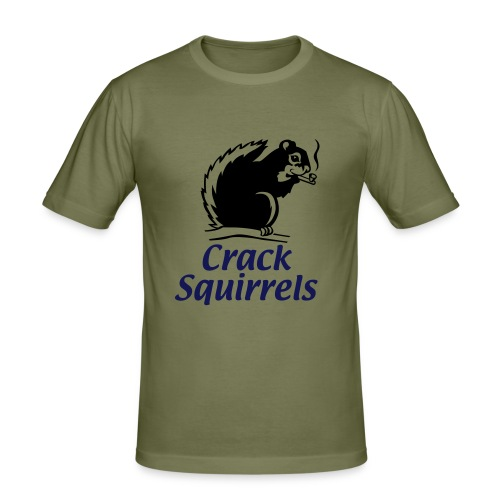 Squirrels take 2 - Men's Slim Fit T-Shirt