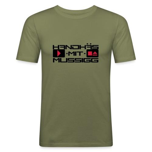 Handkäs mit Mussigg - Männer Slim Fit T-Shirt
