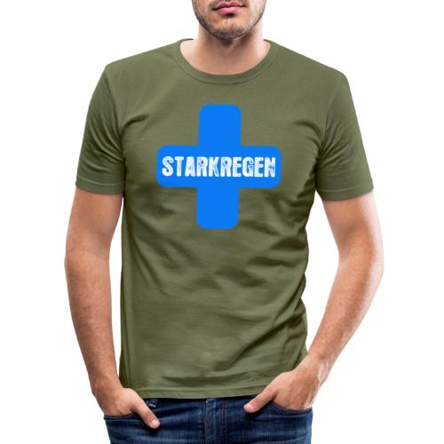 STARKREGEN BLUE C 2019 png - Männer Slim Fit T-Shirt