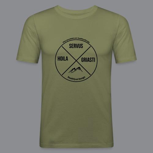 Hoila Servis Griasti - Männer Slim Fit T-Shirt
