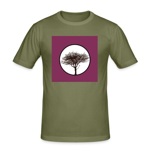 Baum in Kreis - Männer Slim Fit T-Shirt