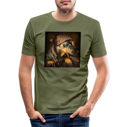 Biker Pinia - Männer Slim Fit T-Shirt