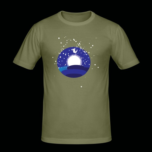 Der Mond hat n Vogel - Männer Slim Fit T-Shirt
