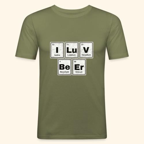 I LuV BeEr I Love Beer - Männer Slim Fit T-Shirt