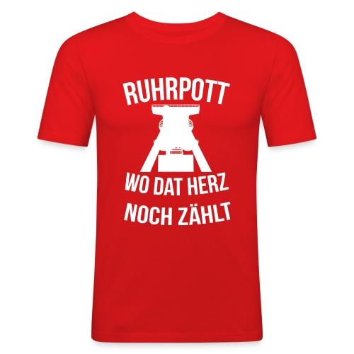 Ruhrpott - Wo dat Herz noch zählt - Männer Slim Fit T-Shirt