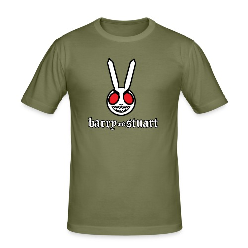 bunny and logo - Men's Slim Fit T-Shirt