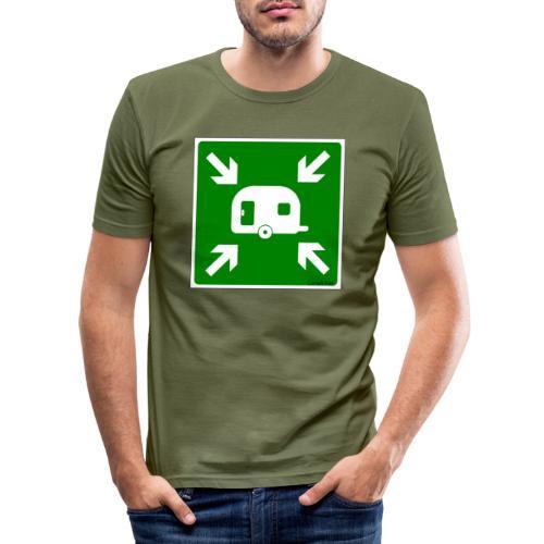 Meeting Point Caravan - Männer Slim Fit T-Shirt