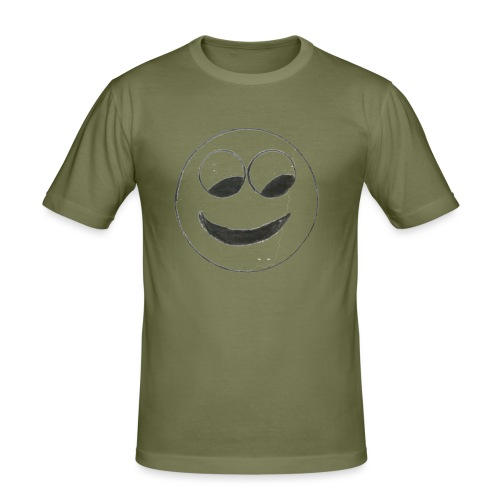 Smiley - Männer Slim Fit T-Shirt