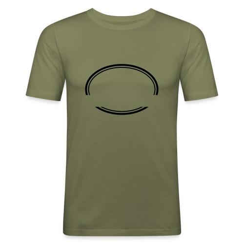 Kreis offen - Männer Slim Fit T-Shirt