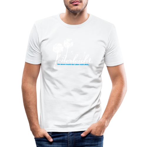 geweihbär Federleicht - Männer Slim Fit T-Shirt