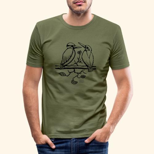 Eisvogel Liebe - Männer Slim Fit T-Shirt