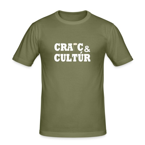 Craic and Cultúr - - Men's Slim Fit T-Shirt