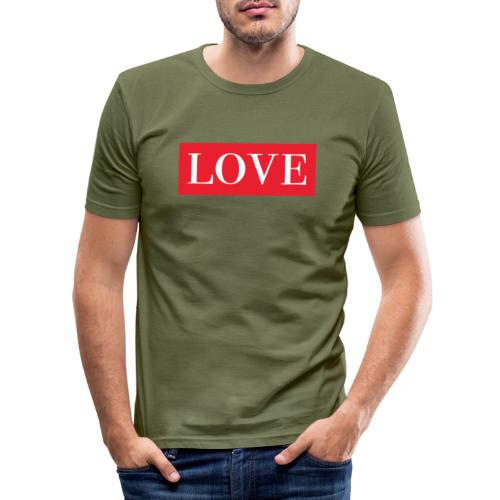 Red LOVE - Men's Slim Fit T-Shirt