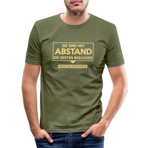 Sie sind mit ABSTAND die besten Besucher. sdShirt - Männer Slim Fit T-Shirt