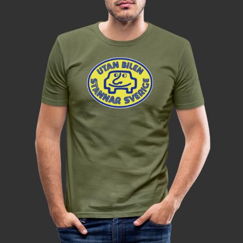Utan bilen stannar Sverige färg - Slim Fit T-shirt herr