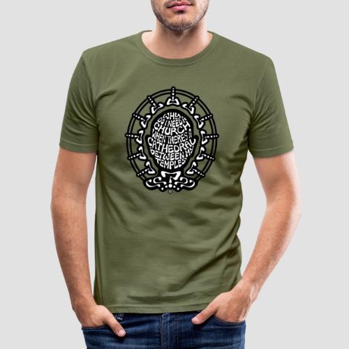 FREE THINKER (b/w) - Men's Slim Fit T-Shirt