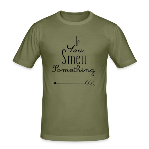 If You Smell Something Left Twins Rompertje - Mannen slim fit T-shirt