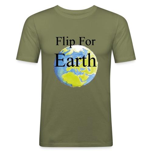 Flip For Earth T-shirt - Slim Fit T-shirt herr