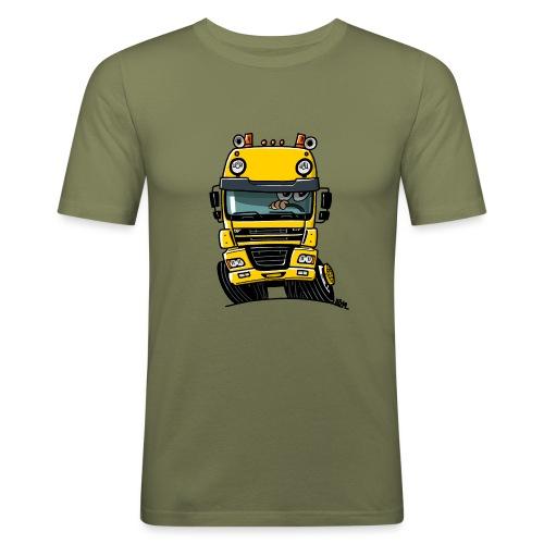 0810 D truck CF geel - slim fit T-shirt
