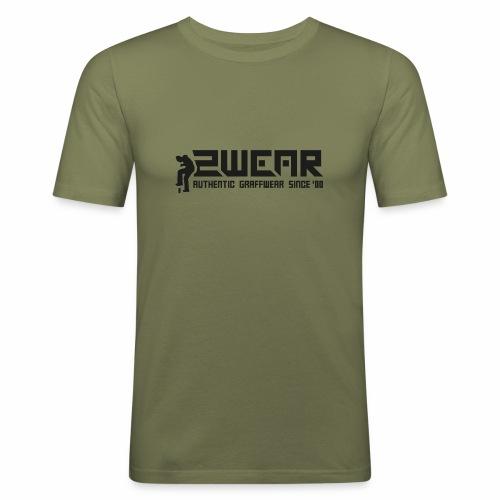 2wear org tagline logo blk - Herre Slim Fit T-Shirt