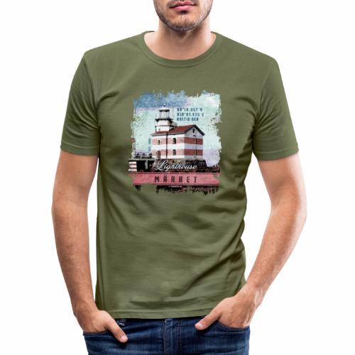 Märket majakkatuotteet, Finland Lighthouse, väri - Miesten tyköistuva t-paita