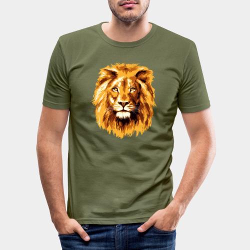 Lion face - Men's Slim Fit T-Shirt