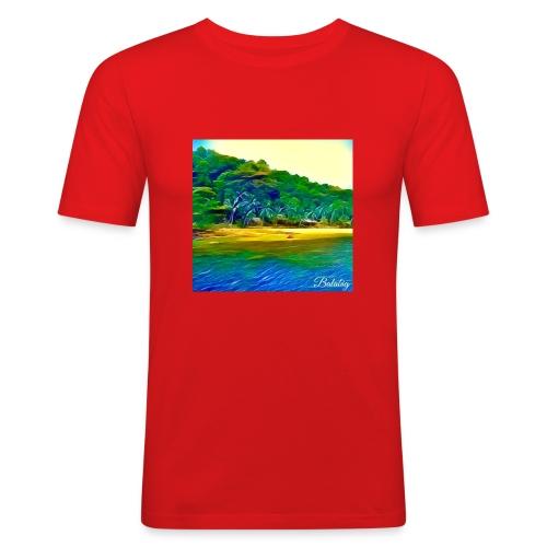 Tropical beach - Maglietta aderente da uomo