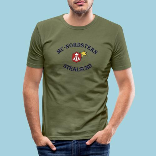 MC Nordstern Schrift gebogen - Männer Slim Fit T-Shirt