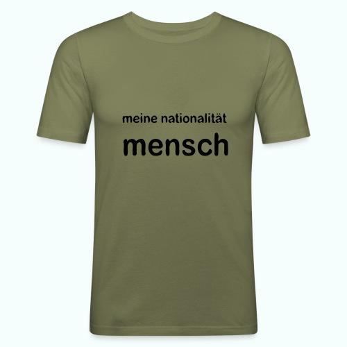 nationalität mensch v 170 - Männer Slim Fit T-Shirt
