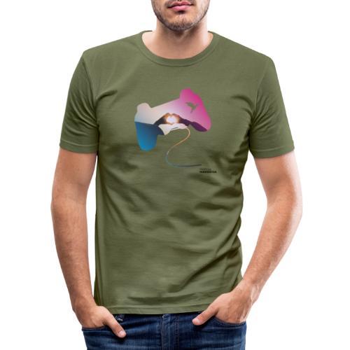 Controller: Wir lieben Gaming! - Männer Slim Fit T-Shirt
