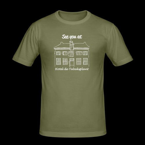 See you at Hotel de Tabaksplant WIT - Mannen slim fit T-shirt