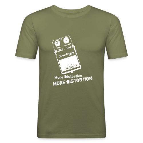 distortion white - Men's Slim Fit T-Shirt