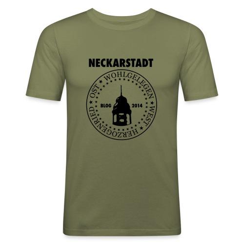 Neckarstadt Blog seit 2014 (Logo dunkel) - Männer Slim Fit T-Shirt